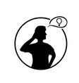 person thinking vector image