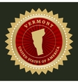 Star label Vermont vector image