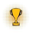 Prize cup comics icon vector image