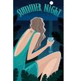 Summer Night in the tropics vector image
