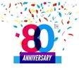 Anniversary design 80th icon anniversary vector image