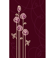 Card with Stylized Roses Graphic vector image