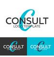 consult logo letter c logo logo template vector image