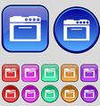 kitchen stove icon sign A set of twelve vintage vector image