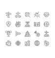 Line Global Navigation Icons vector image