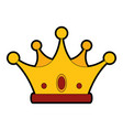 luxury king crown vector image