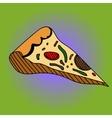 Pizza Pop art vector image