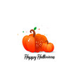 pumpkin and halloween vector image