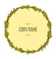 Round corn frame vector image