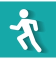 Running vector image