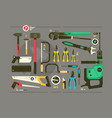 set of tools for construction and repair vector image