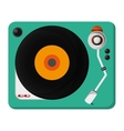 single gramophone icon vector image