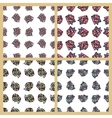 Stock Set of seamless patterns vector image
