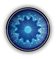 tech blue symbol on the white vector image vector image