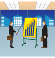 Meeting two businessmen Presentation vector image vector image