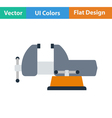 Flat design icon of vise vector image