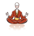 asian monk vector image