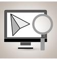 computer search icon vector image