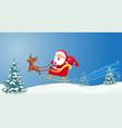 santa with christmas sled vector image