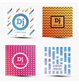 Set of Music Backgrounds with Modern Geometric vector image