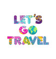 summer vacation travel color cutout text quote vector image