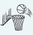 Basketball board vector image vector image