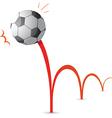 Bouncing soccer ball cartoon vector image