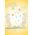 book of knowledge vector image vector image