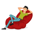 Happy Man Relax vector image vector image