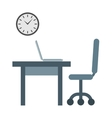 Empty workplace vector image