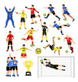 football team members set vector image