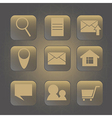 icon for internet web background with triangles vector image