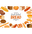 poster template with bread products vector image