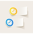 realistic design element clock vector image