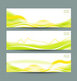 set of three abstract banners vector image