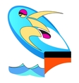 Swimmer preparing to jump vector image