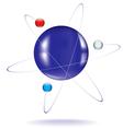 atom one vector image vector image