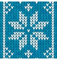Blue Christmas embroidery background vector image vector image