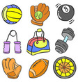 object sport various doodle collection vector image