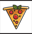 slice of pizza with sausage vector image