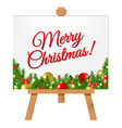 banner with christmas border vector image