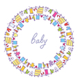 Baby laundry cute frame vector image
