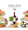 Italian cuisine food background vector image vector image
