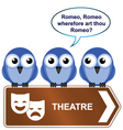 theatre sign vector image vector image
