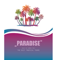 Background with Tropical Paradise vector image vector image