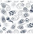 Football or soccer balls seamless pattern vector image vector image
