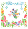 Best wishes Greeting card vector image
