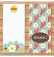 Brochure template for breakfast menu vector image
