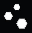 hexagon vector image