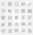 literature icons set vector image